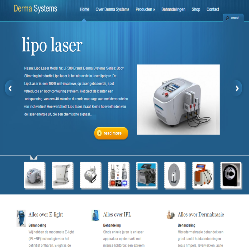 Derma Systems website