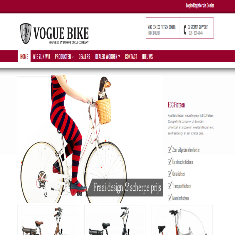 Vouge Bikes website
